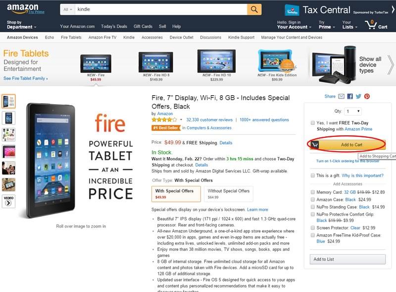 como comprar en amazon - paso 4