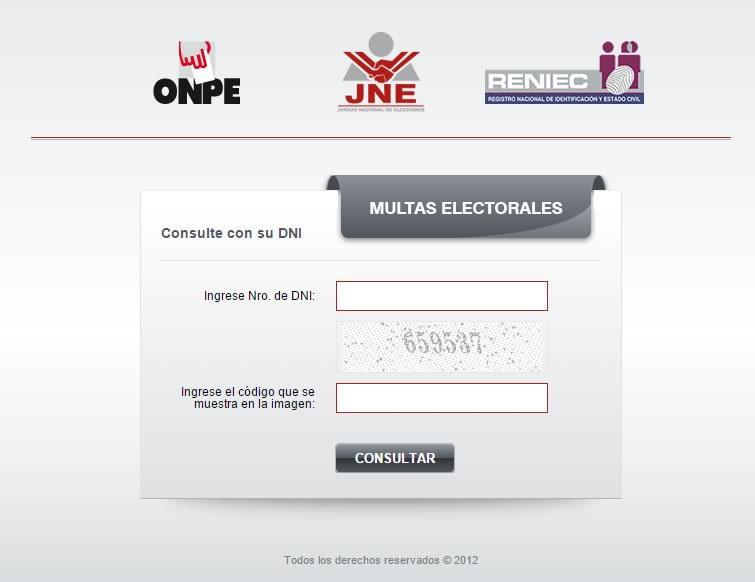 consulta de multas electorales onpe
