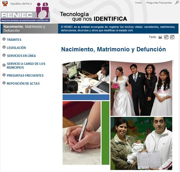 Matrimonio Catolico Registro Civil : Consultar actas de nacimiento matrimonio y defunción del