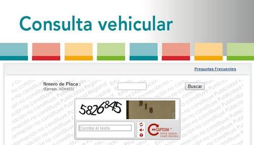 Consultar dueño de vehiculo por placa