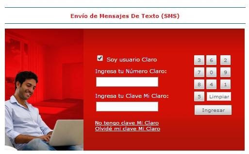 Claro: Enviar Mensajes de Texto SMS Gratis - Perú
