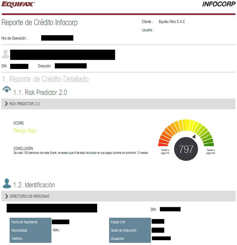 infocorp consulta gratis - reporte de crédito