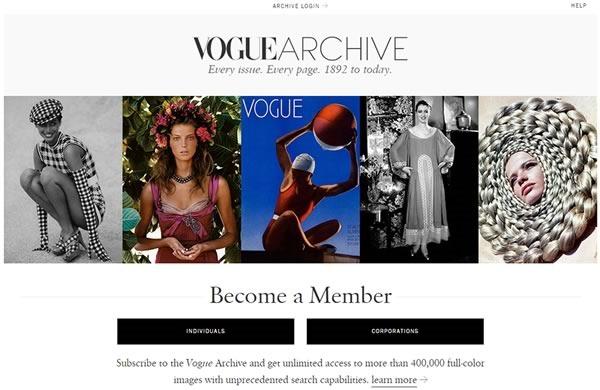 acceso gratis a vogue archive - acceso