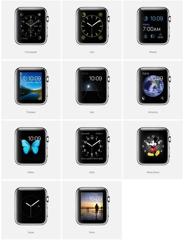 apple watch - pantallas