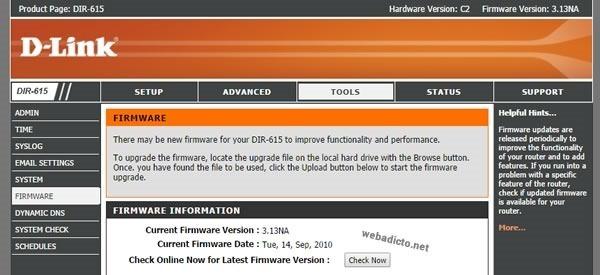 d-link dir-615 ver C2 firmware update solucion actualizado