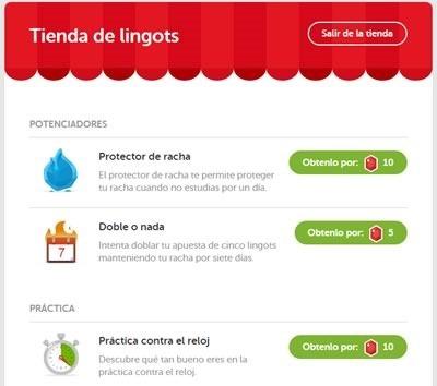 duolingo el mejor curso gratis de idiomas online - tienda lingots