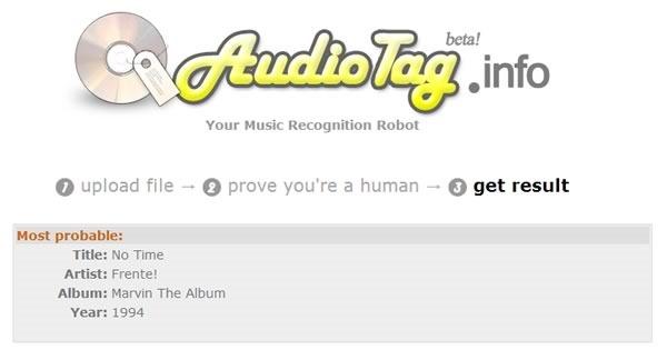 identificador de canciones online audiotag resultado