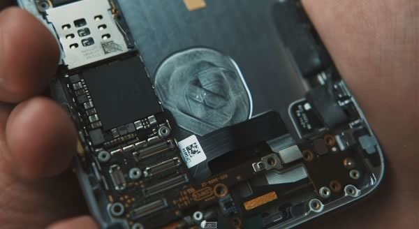 iphone 6 nuevo video filtrado - interior procesador a8