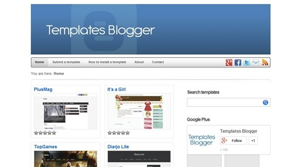 plantillas blogger para descargar gratis - templates blogger