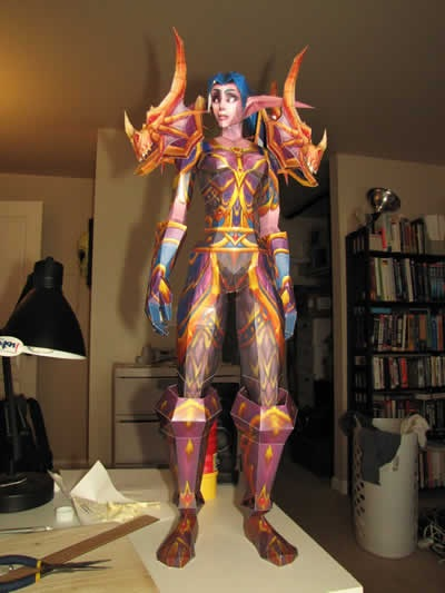 wow-papercraft-female-nightelf-hunter