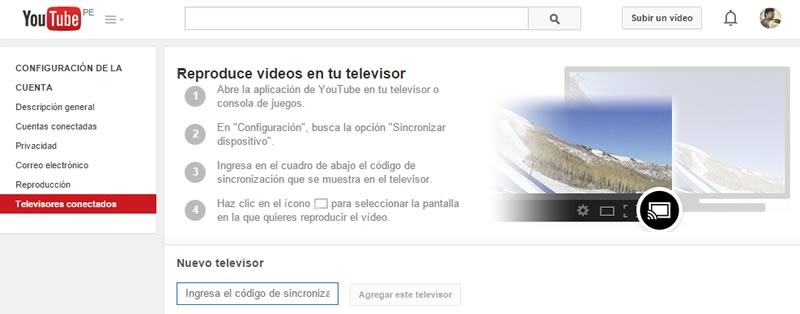 youtube controlar desde smartphone tablet pc
